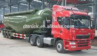 67 M3 bulk cement transport semi trailer with tri-axle compartments optional