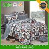 china home decor bed sheet 100% cotton printing european bedding set