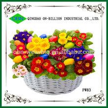 Decorate wedding flower girl basket white wedding baskets