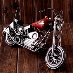 Best quality tinplate motorcycle model for home decoration