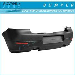 FOR 99 00 01 02 03 04 VOLKSWAGEN VW GOLF 4 R32 STYLE PP POLYPROPYLENE REAR BUMPER