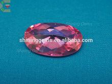 shining good polish brightness elegance design pink oval cut loose cz gems