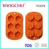 Halloween pumpkin face silicone mold cake design tool