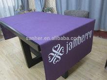 printed 100% polyester purple 220GSM modern design durable table runner