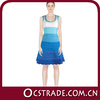 2014 newest sleeveless blue lace bandage dress sexy celebrity dresses