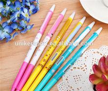new design good quality fancy cute cartoon pattern plastic ballpoint pen