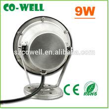 cree led underwater light 9w for pool RGB/Warmwhite/White/Neturalwhite,DC12V IP68