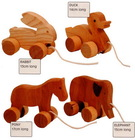 2015 new hot sales high quality China gift wholesale decorative kids rabbit/duck toys ornament diy African wood carved animals