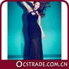 2014 long sheer sleeve sequin black graceful evening dress with Femininity