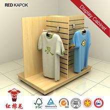 Retail clothes shop movable mens\ clothes display rack