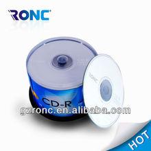 No brand cd-r media wholesale in bulk 50pcs shrinkwrap package with logo printing