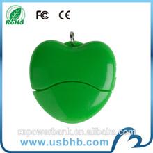 2014 Promotional plastic sweet heart flash drive usb