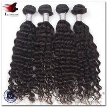 Afro girl wholesale natural woven curtain deep wave brazilian hair weft