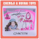 Hot sales pink plastic dresser toy for girls dressing table