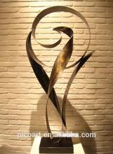 Antique bronze finishes metal sculpture