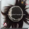 alta qualidade laço suíço base olhando natural peruca de cabelo para homens