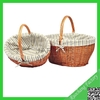 High-quality large storage baskets with handle,cheap wicker basket with handle, wicker basket
