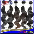 6A grau virgem macio e limpo e saudável cor natural 100 extensão do cabelo humano onda