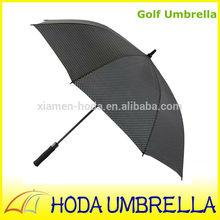 Black white dots printed EVA straight fiberglass golf umbrella