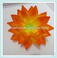 Yiwu aimee fornecer almofadas artesanal de flores de tecido, decoração artesanal flor de nylon desenho( sou- f- 067)