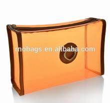 high quality super soft plastic PVC vinyl cosmetic toiletry transparent zipper pouch