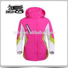 OEM custom plus size snow skiing jackets womens seam taped