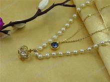 contemporary heart murano glass necklace