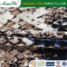 95% polyester 5% spandex spandex KS micro velvet printed velvet in changshu factory for garment, ten lines micro velvet in Iraq