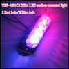 LED emergency vehicle strobe light for Deck Dash grille-red blue 12V