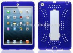 2014 New Tablet PC armor Cute silicon minion stand case for iPad mini