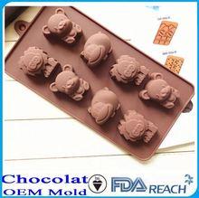 MFG Various shape silicone chocolate molds seanail and seashell shape silicone chocolate mold