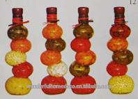 decoración de hogar y el tipo de material de vidrio vinagre de frutas decorativas de la botella