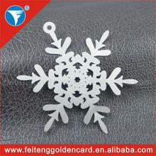 Fashion Wholesale Die Out Metal Snowflake Decorations, Free Design Popular Metallic Snowflake Ornaments