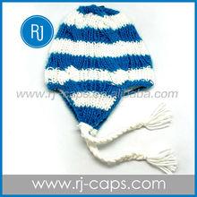 high quality fashion beautiful custom wholesale winter ear flap beanie caps