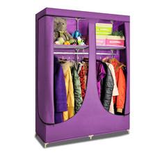 Sliding door plastic folding canvas wardrobe