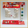 wholesale x'mas decoration diy ceramic paint set painting toys