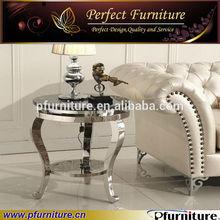 Stainless steel legs round coffee table MTD3001