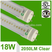5 years warranty 4ft DLC LED T8 18w 1200mm UL classified for America markets