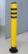 Plastic reflective material coat for traffic posts