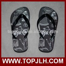 man slipper, personal logo printing.