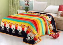 High quality Polar Fleece Blanket Cartoon print bed sheets cute warm blankets