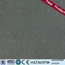 H3J06197M Factory direct sale porcelain skirting tile,china polish decorative wall tile,clean black porcelain tile