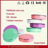 Round Chape Compact Design 4400MAH Power BankSmallest Mobile Phone Battery