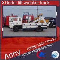 dongfeng 3tons new wrecker tow truck under lift wrecker truck with platform