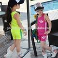 Ss355 infantil ginásio vest+pants ternos