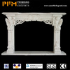 China factory price natural stone hand-craved natural indoor sandstone fireplaces