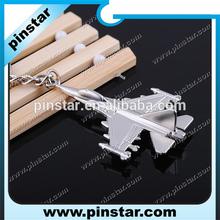 Fashion airliner airplane Metal keychains Holder Keyrings key rings airplane key chain