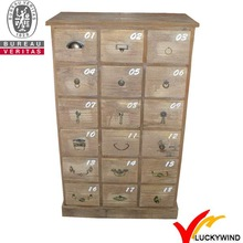 shabby chic wood multi drawer decorative cabinet with drawer