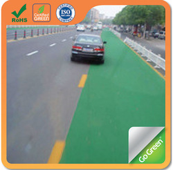 Color sealer for asphalt paving materials used on colored road surface
