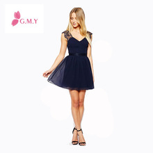 New Summer Casual European Exclusive Sleeveless Sexy Lace Halter Chiffon Backless Dress 2014